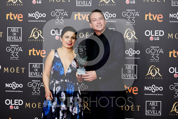 {persons} attends to 33rd Goya Awards at Fibes - Conference and Exhibition  in Seville, Spain. February 03, 2019. (ALTERPHOTOS/A. Perez Meca)