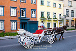 Horse drawn carriage, Rue  D'Auteuil, Quebec City, Canada
