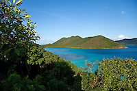 Looking out towards Mary Creek from Annaberg.Virgin Islands National Park