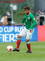 Mexico City, Mexico - Sunday June 11, 2017: Jonathan dos Santos during a 2018 FIFA World Cup Qualifying Final Round match with both men's national teams of the United States (USA) and Mexico (MEX) playing to a 1-1 draw at Azteca Stadium.