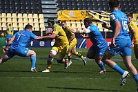 2nd May 2021; Stade Marcel-Deflandre, La Rochelle, France. European Champions Cup Rugby La Rochelle versus  Leinster Semi-Final;  Dillyn LEYDS of Stade Rochelais is tackled by Healy of Leinster