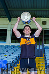 Austin Stacks captain Ronan Shanahan raises the cup after the county Club Champions final in Fitzgerald Stadium on Sunday