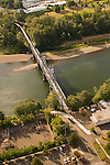 Aerial View of Union Street Railroad Pedestrian and Bicycle Bridge in Salem, Oregon