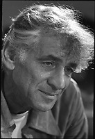 """1971 Sept. 1. - Leonard Bernstein in rehearsal of his """"Mass""""<br /> <br /> Leonard Bernstein (August 25, 1918 ? October 14, 1990) was an American conductor, composer, author, music lecturer and pianist. He was the first conductor born and educated in the United States of America to receive world-wide acclaim[citation needed]. He is perhaps best known for his long conducting relationship with the New York Philharmonic, which included the acclaimed Young People's Concerts series, and his compositions including West Side Story, Candide, and On the Town. He is known to baby boomers primarily as the first classical music conductor to make many television appearances, all between 1954 and 1989. He is one of the most influential figures in the history of American classical music, championing the works of American composers and inspiring the careers of a generation of American musicians."""