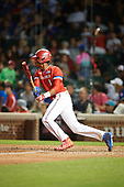 Jeremiah Jackson (1) of St. Luke's Episcopal High School in Mobile, Alabama at bat during the Under Armour All-American Game presented by Baseball Factory on July 29, 2017 at Wrigley Field in Chicago, Illinois.  (Mike Janes/Four Seam Images)
