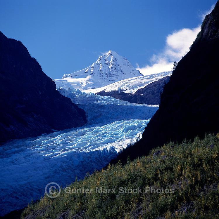 Bear Glacier along Highway 37A to Northern Border Towns of Stewart, British Columbia, Canada, and Hyder, Alaska, USA