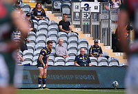 29th May 2021; Sixways Stadium, Worcester, Worcestershire, England; Premiership Rugby, Worcester Warriors versus Leicester Tigers; Fin Smith of Worcester Warriors lines up a conversion kick