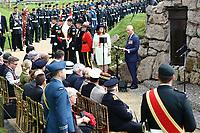Son Altesse Royale le prince de Galles prononce une allocution commémorative.<br /> <br /> Photo : Julien Faure