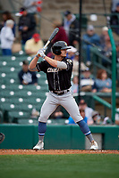 Charlotte Knights Adam Engel (11) bats during an International League game against the Rochester Red Wings on June 16, 2019 at Frontier Field in Rochester, New York.  Rochester defeated Charlotte 11-5 in the first game of a doubleheader that was a continuation of a game postponed the day prior due to inclement weather.  (Mike Janes/Four Seam Images)