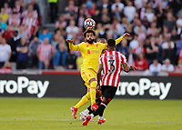 25th September 2021; Brentford Community Stadium, London, England; Premier League Football Brentford versus Liverpool; Mohamed Salah of Liverpool controls the ball