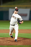 Scottsdale Scorpions pitcher Chris Stratton (68), of the San Francisco Giants organization, during a game against the Glendale Desert Dogs on October 14, 2016 at Scottsdale Stadium in Scottsdale, Arizona.  Scottsdale defeated Glendale 8-7.  (Mike Janes/Four Seam Images)