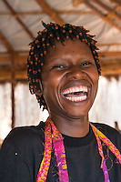 Africa, DRC, Democratic Republic of the Congo, South Kivu, Kamanyola. Women for Women project. WFW Kamanyola co-op and lifeskills training. Natalie Cherezi, making Belgium waffles from soy & cassava.