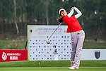 Yi Yuan Liu of China tees off at tee one during the 9th Faldo Series Asia Grand Final 2014 golf tournament on March 18, 2015 at Faldo course in Mid Valley clubhouse in Shenzhen, China. Photo by Xaume Olleros / Power Sport Images
