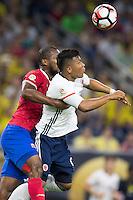 Action photo during the match Colombia vs Costa Rica at  NRG Stadium Copa America Centenario 2016. ---Foto  de accion durante el partido Colombia vs Costa Rica, En el Estadio NRG Partido Correspondiante al Grupo - A -  de la Copa America Centenario USA 2016, en la foto: (i)-(d) Kendall Watson, Roger martinez<br /> <br /> --- 11/06/2016/MEXSPORT/Omar Martinez.