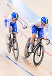 Maria Giulia Confalonieri and Rachele Barbieri of Italy compete on the Women's Madison 30km Final during the 2017 UCI Track Cycling World Championships on 15 April 2017, in Hong Kong Velodrome, Hong Kong, China. Photo by Chris Wong / Power Sport Images