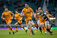 21st May 2021; Twickenham, London, England; European Rugby Challenge Cup Final, Leicester Tigers versus Montpellier; Florian Verhaeghe of Montpellier Rugby makes a break