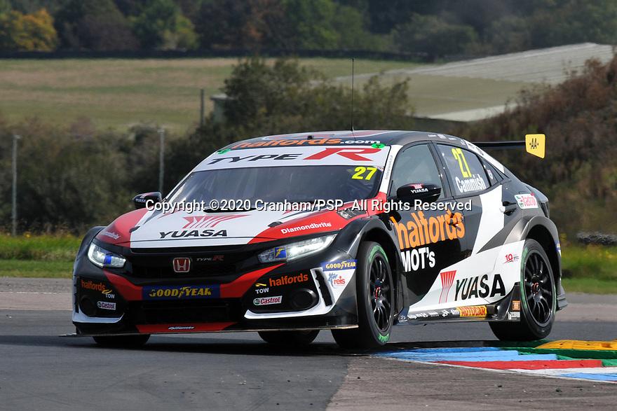 Round 5 of the 2020 British Touring Car Championship. #27 Dan Cammish. Halfords Yuasa Racing. Honda Civic Type R.