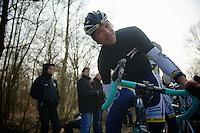 Paris-Roubaix 2013 RECON at Bois de Wallers-Arenberg..Frederik Veuchelen (BEL)