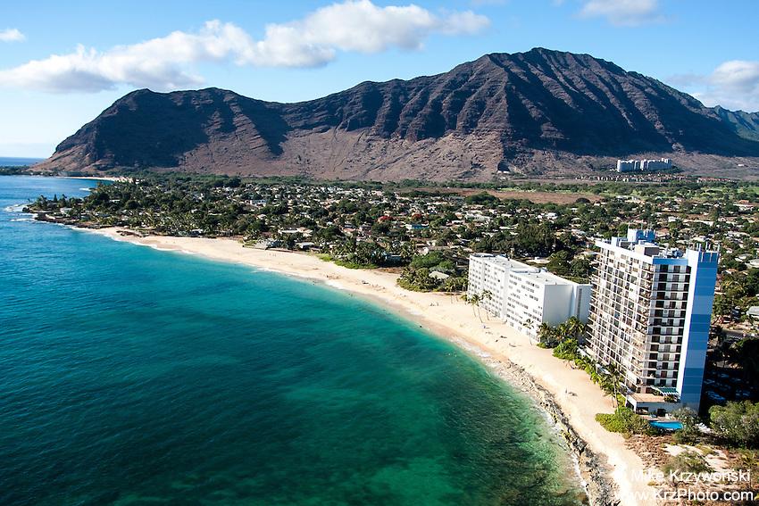 Aerial view of Makaha, Leeward Oahu