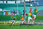 Shane Nolan, Kerry in action against Paul Doyle, Carlow during the Joe McDonagh hurling cup fourth round match between Kerry and Carlow at Austin Stack Park on Saturday.