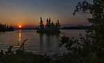The sun setting over the Chippewa Flowage in northern Wisconsin.