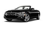 Stock pictures of low aggressive front three quarter view of 2017 BMW 4-Series 430i 2 Door Convertible Low Aggressive