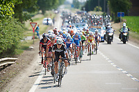 Jan Bakelants (BEL/OPQS) taking a turn at the front, cranking up the tempo towards the finish<br /> <br /> 2014 Belgium Tour<br /> (final) stage 5: Oreye - Oreye (179km)