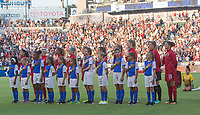 Carson, CA - Thursday August 03, 2017: USWNT starting eleven during a 2017 Tournament of Nations match between the women's national teams of the United States (USA) and Japan (JAP) at StubHub Center.