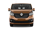 Car photography straight front view of a 2015 Renault Trafic Luxe 5 Door Van