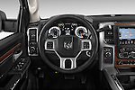 Car pictures of steering wheel view of a 2017 Ram 2500 Laramie Mega Cab 4 Door Truck Steering Wheel