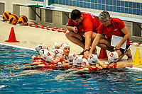 20200126 - GENT, BELGIUM : Team Gentse KGZV pictured during the waterpolo game Gentse KGZV and Eeklo MVZ , waterpolo game between Gentse KGZV and Eelko MVZ , at swimming pool Strop in Gent , saturday 1 th February 2020 . PHOTO SPORTPIX.BE | STIJN AUDOOREN