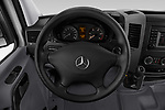 Car pictures of steering wheel view of a 2017 Mercedes Benz Sprinter Base 4 Door Cargo Van