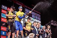 podium:<br /> <br /> 1st place: Jannik Steimle (GER/Deceuninck Quick Step)<br /> 2nd place: Timo Roosen (NED/Jumbo Visma)<br /> 3the place: Dylan Groenewegen (NED/Jumbo Visma)<br /> <br /> 104th Kampioenschap van Vlaanderen 2019<br /> One Day Race: Koolskamp > Koolskamp 186km (UCI 1.1)<br /> ©kramon