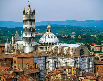 Italien, Toskana, Siena: Altstadt mit Dom | Italy, Tuscany, Siena with cathedral