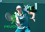March 29 2018: Kevin Anderson (RSA) loses to Pablo Carreño Busta (ESP) 4-6, 7-5, 6-7 (6), at the Miami Open being played at Crandon Park Tennis Center in Miami, Key Biscayne, Florida. ©Karla Kinne/Tennisclix/CSM
