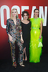 Left to right Cate Blanchett, Helena Bonham Carter and Sarah Paulson arrive at the World Premiere of Ocean's 8 at Alice Tully Hall in New York City, on June 5, 2018.
