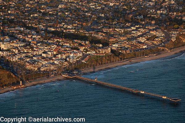 aerial photograph of San Clemente Pier, San Clemente, San Diego County, California