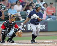 New Orleans Zephyrs SS Anderson Hernandez on Sunday June 1st at Dell Diamond in Round Rock, Texas. Photo by Andrew Woolley / Four Seam Images..