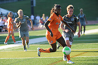 Rosana (11) of Sky Blue FC is trailed by Joanna Lohman (17) of the Philadelphia Independence. The Philadelphia Independence defeated Sky Blue FC 2-1 during a Women's Professional Soccer (WPS) match at John A. Farrell Stadium in West Chester, PA, on June 6, 2010.