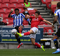 Bristol City's Callum O'Dowda (right) battles for possession with Sheffield Wednesday's Liam Palmer (left) <br /> <br /> Photographer David Horton/CameraSport<br /> <br /> The EFL Sky Bet Championship - Bristol City v Sheffield Wednesday - Sunday 28th June 2020 - Ashton Gate Stadium - Bristol <br /> <br /> World Copyright © 2020 CameraSport. All rights reserved. 43 Linden Ave. Countesthorpe. Leicester. England. LE8 5PG - Tel: +44 (0) 116 277 4147 - admin@camerasport.com - www.camerasport.com