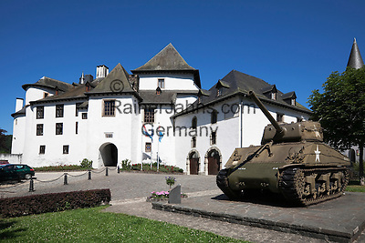 Grand Duchy of Luxembourg, American World War 2 tank outside the castle, now a museum
