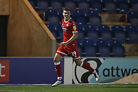 Jordan Tunnicliffe of Crawley Town scores the first goal for his team and celebrates during Colchester United vs Crawley Town, Sky Bet EFL League 2 Football at the JobServe Community Stadium on 1st December 2020