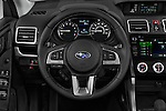 Car pictures of steering wheel view of a 2018 Subaru Forester 2.5i-Limited-CVT 5 Door SUV Steering Wheel