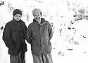 Iraq 1980.Hatige Yachar and Omar Shekmos in winter in Shene.Irak 1980.Hatige Yachar et Omar Shekmos l'hiver a Shene