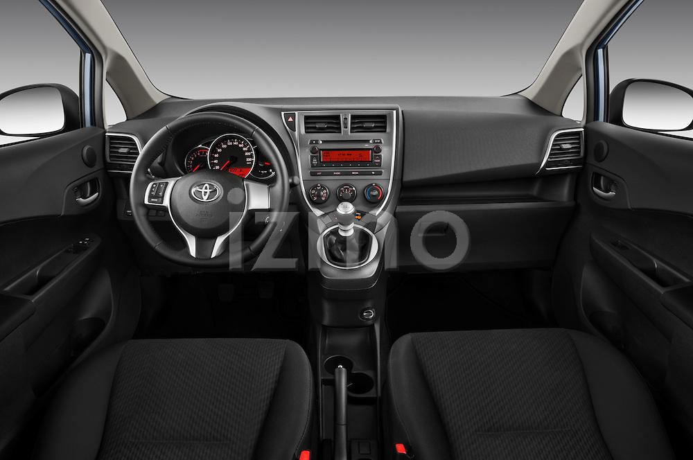 Straight dashboard view of a 2011 Toyota Verso-S Terra 5 Door Hatchback .