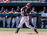 STANFORD, CA - JUNE 4: Brock Jones during a game between North Dakota State and Stanford Baseball at Sunken Diamond on June 4, 2021 in Stanford, California.