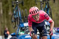 Jonas Rutsch (DEU/EF Education - Nippo) suffering up the Kemmelberg<br /> <br /> 83rd Gent-Wevelgem - in Flanders Fields (ME - 1.UWT)<br /> 1 day race from Ieper to Wevelgem (BEL): 254km<br /> <br /> ©kramon