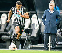 1st November 2020; St James Park, Newcastle, Tyne and Wear, England; English Premier League Football, Newcastle United versus Everton; Callum Wilson of Newcastle United on the ball as Carlo Ancelotti looks on