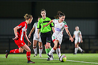 Luna Vanzeir (10 OHL) with the ball during a female soccer game between Oud Heverlee Leuven and Standard Femina De Liege on the 10th matchday of the 2020 - 2021 season of Belgian Womens Super League , sunday 20 th of December 2020  in Heverlee , Belgium . PHOTO SPORTPIX.BE   SPP   SEVIL OKTEM