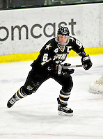 2 January 2011: Army Black Knight forward Cody Omilusik, a Senior from Traverse City, MI, in action against the Ohio State University Buckeyes at Gutterson Fieldhouse in Burlington, Vermont. The Buckeyes defeated the Black Knights 5-3 to win the 2010-2011 Catamount Cup. Mandatory Credit: Ed Wolfstein Photo